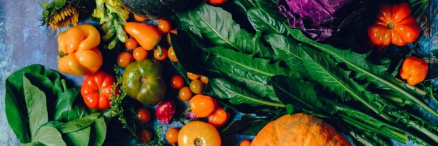 Healthy food and flowers - eczema diet