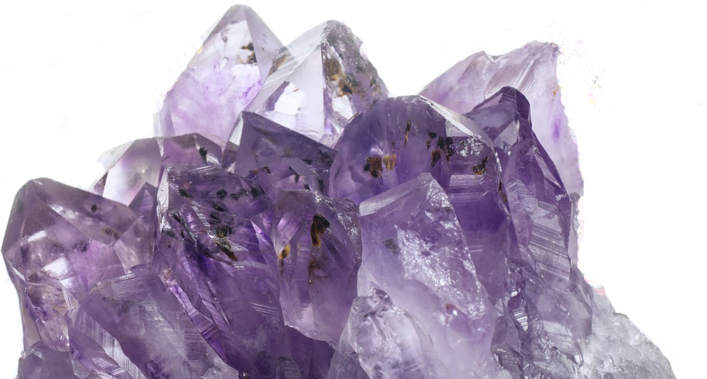 amethyst crystals - natural dermatology hero image