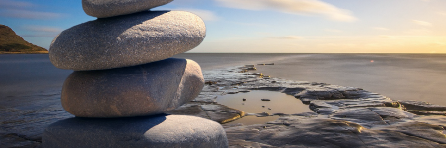 balanced rock carin by ocean - improve Covid 19 resistance