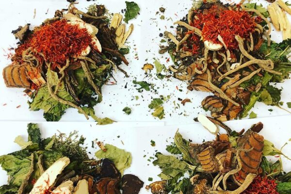 Piles of Chinese Herbs - Chinese herbs for skin